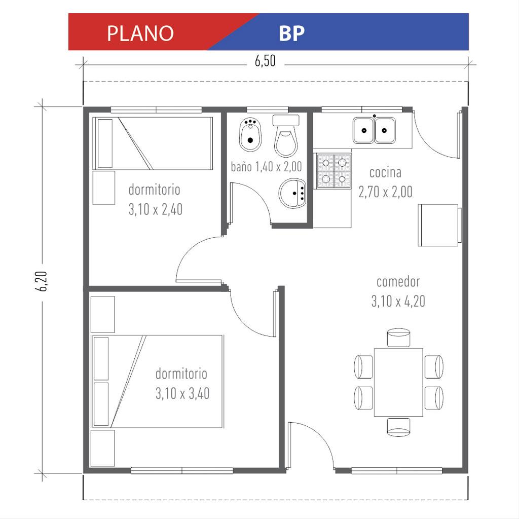 Viviendas don palacios s r l for Planos de viviendas economicas