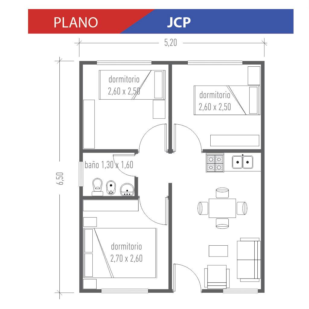 Planos de casas de 60 metros cuadrados beautiful este es for Ver plano de casa economica